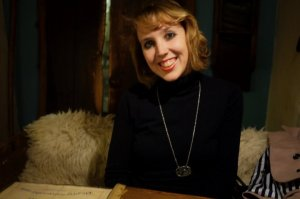 The necklace and me in happier times. (pic: Kate O'Dwyer)