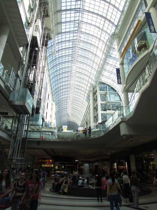 interior of the Toronto Eaton Centre mall
