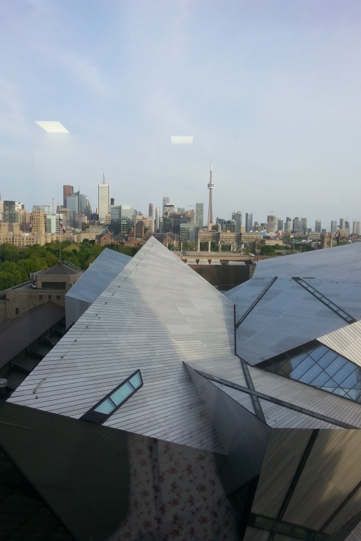 the city - just below is the Royal Ontario Museum