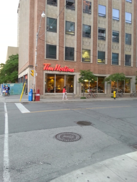 every second shop is Tim Horton's - coffee and donuts